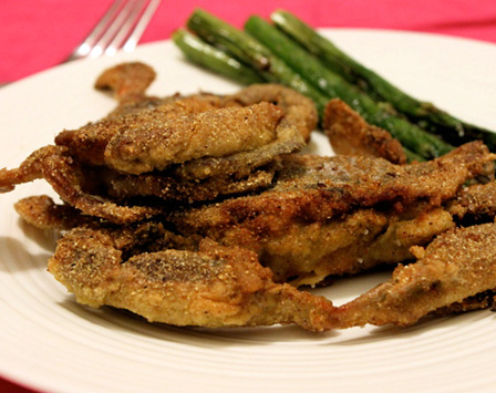 Cornmeal crusted soft crab