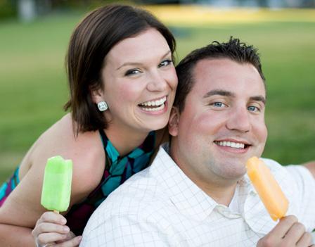 Couple having ice pops