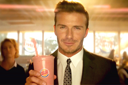 David Beckham in Burger King commercial