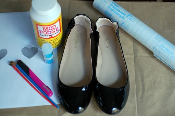 DIY Glitter flats -- supplies