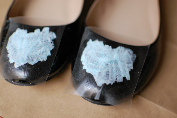 DIY Glitter flats paint shoes