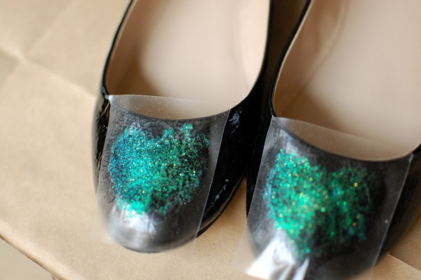 DIY Glitter flats