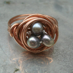 Easter egg nest ring
