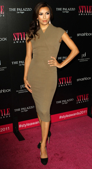 Eva Longoria wearing Victoria Beckham dress