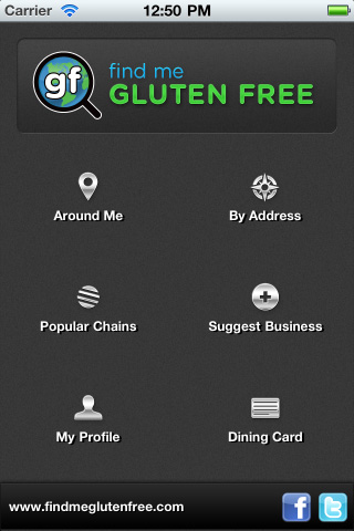 Search for gluten-free options!