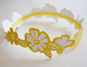 Floral paper crown