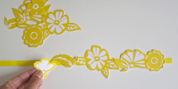 DIY craft tutorial: floral paper crown step 7