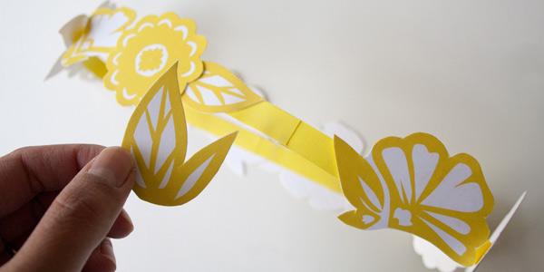 DIY craft tutorial: floral paper crown step 8
