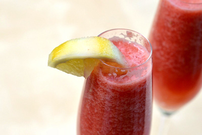 Frozen watermelon bellini
