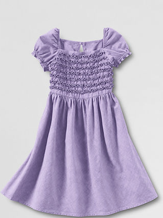 Girls' purple ruffled dress
