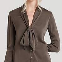 The Brown Blouse by Rachel Zoe, worn by Giuliana Rancic