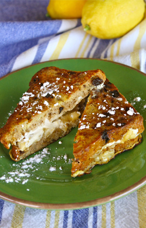 Gluten-free banana cream cheese Monte Cristo