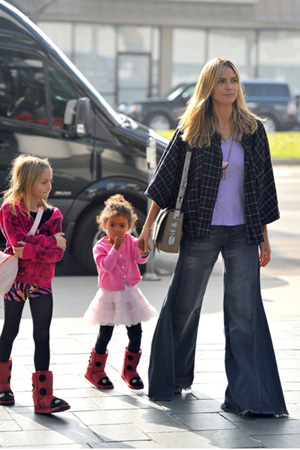 Heidi Klum and daughters Lou and Leni