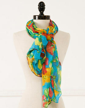 Francesca's Collection Hibiscus Garden Scarf (