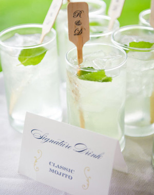 Serve a signature cocktail