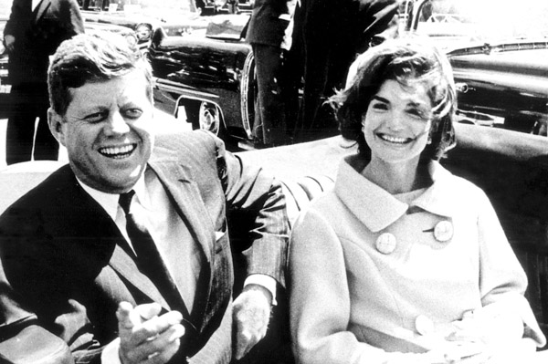 John F Kennedy and Jackie Kennedy