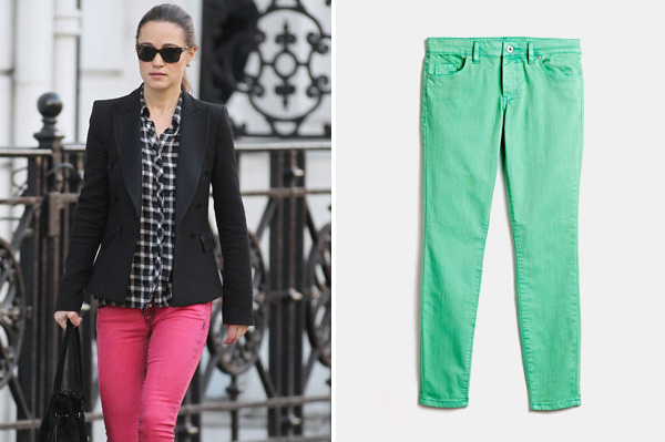 Kate Middleton wearing Pippa Middleton wearing bold pants