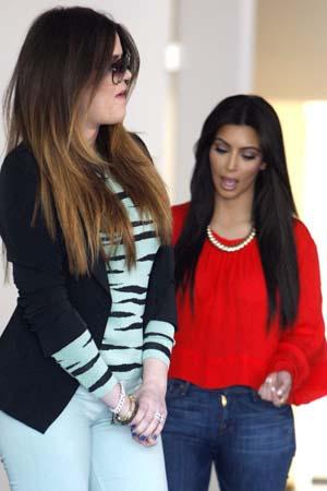 Kim & Khloe's close call in Beverly Hills