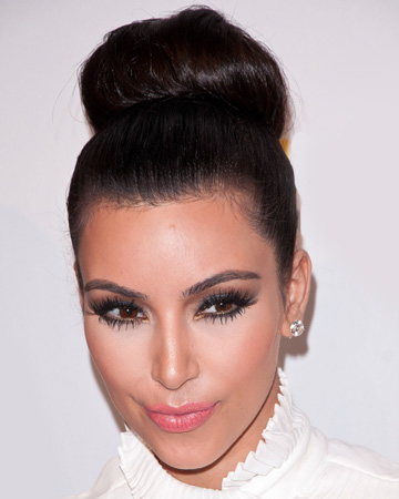 Kim Kardashian's sock bun