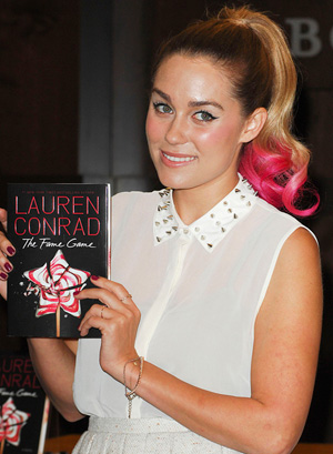 Lauren Conrad's pink ponytail