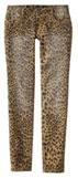 leopard print denim
