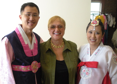 Lidia Bastianich at Korean wedding