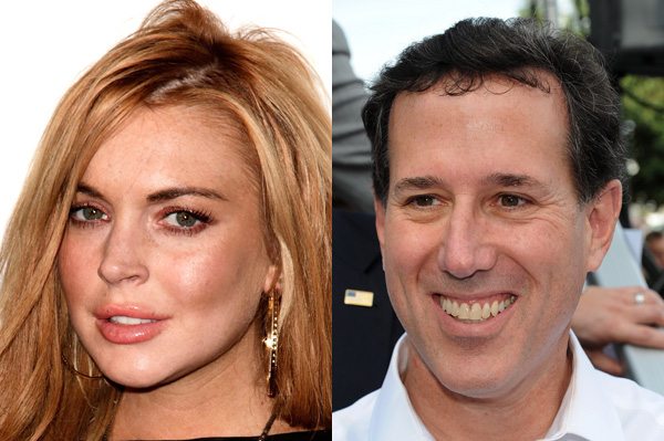 Rick Santorum loves Lindsay Lohan