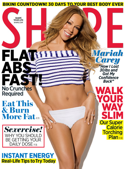 Mariah Carey on Shape magazine