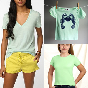 Mint green tees