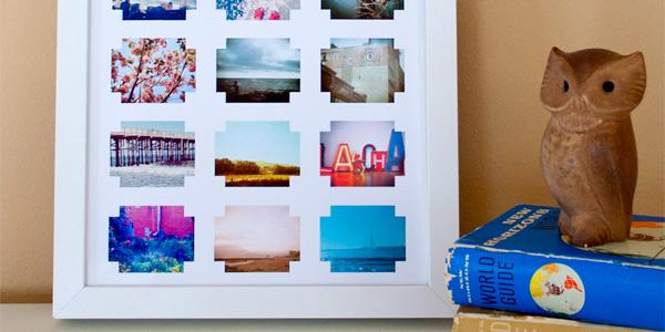 Finished DIY craft: mod photo collage