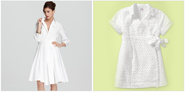 Be fresh and pure in a Diane von Furstenberg white wrap dress