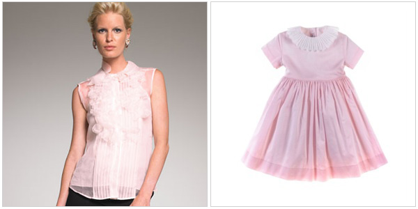 Look prescious and pink in Oscar De La Renta