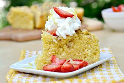 Olive oil cornmeal cake