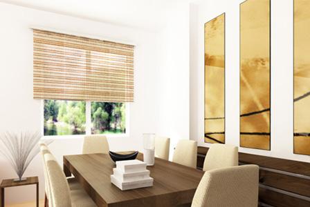 Organic window blinds