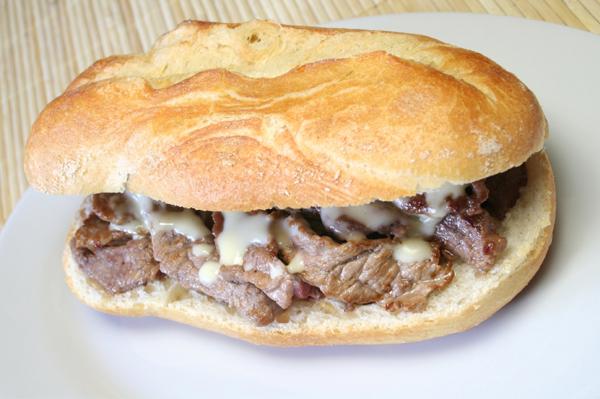 Flank steak makes a delicious sandwich