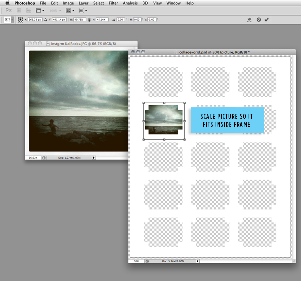 DIY craft tutorial: mod photo collage step 3