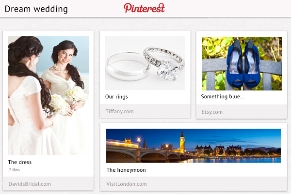 Pinterest wedding inspiration board