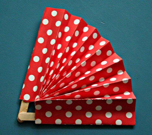 Scrapbook paper fan