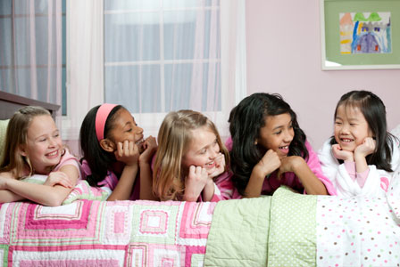 girls sleepover birthday party