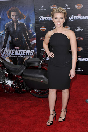 Scarlett Johansson wears interesting dress to The Avengers premiere