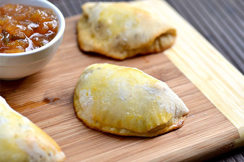 Spicy pork empanada