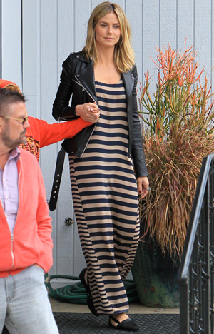 Heidi Klum in BCBGMAXAZARIA maxi dress