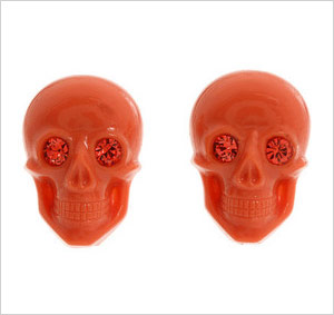 Tarina Tarantino Iconic Lucite Skull Post Earrings