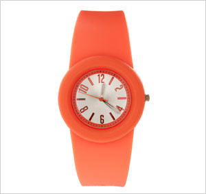 ASOS Neon Orange Rubber Watch