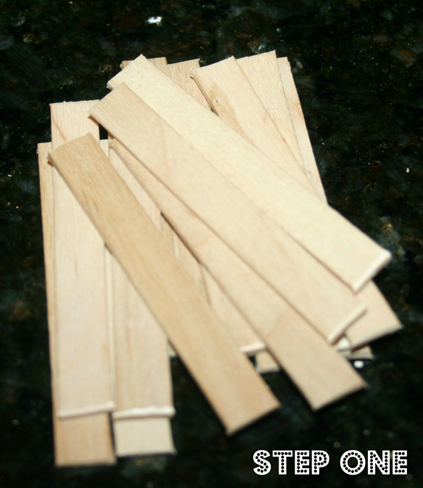 Popsicle stick house step 1