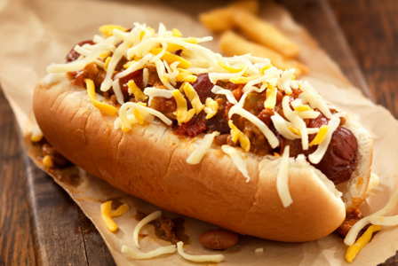 Ballpark chilli dogs
