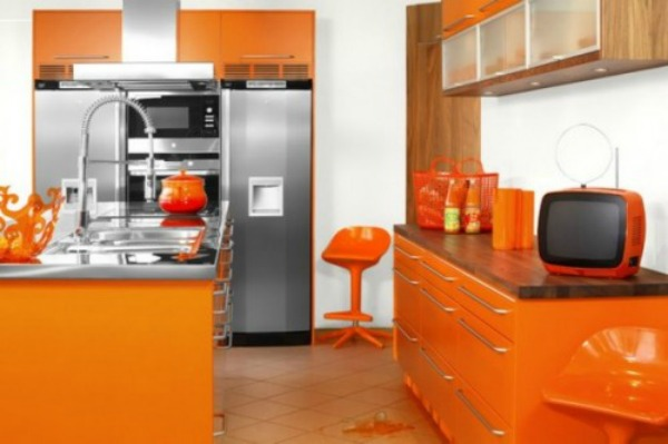 Tangerine kitchen