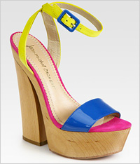 Colorblock sandals