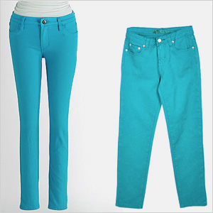 Mom-daughter fashions in turquoise