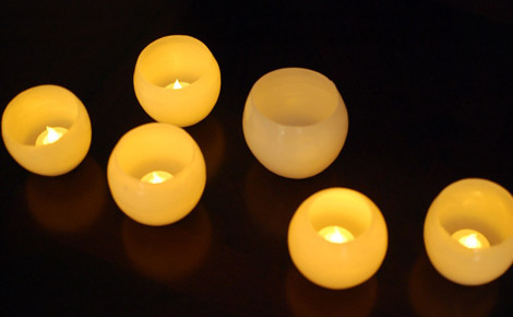 Insert a votive into your wax luminary